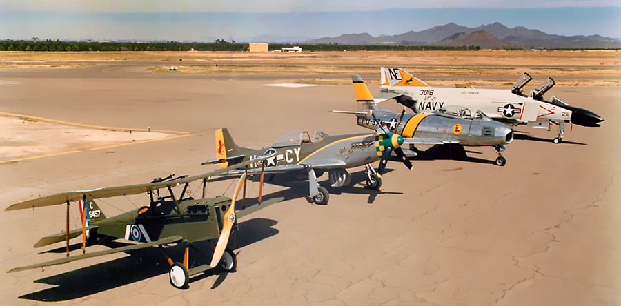 WWI, WWII, Korean War and Vietnam War aircraft