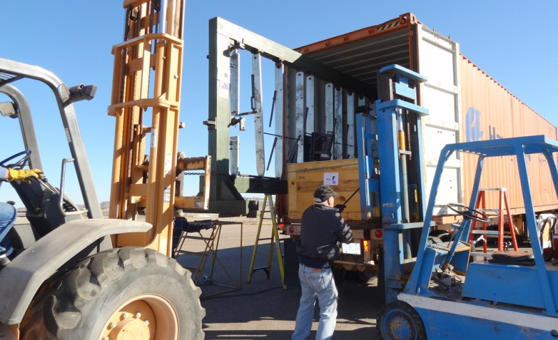 4 Dave working to unload the Focke-Wulf jigs, tooling, and molds
