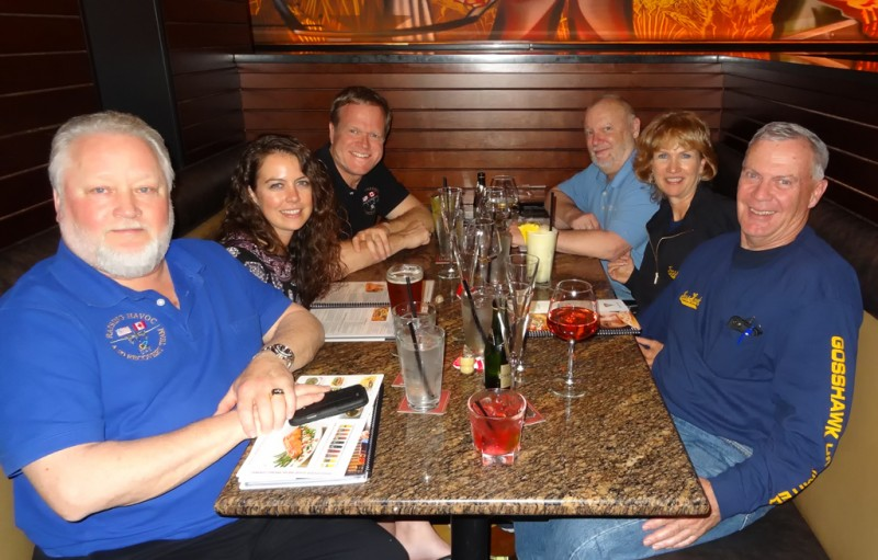 8 Bob Mester, Lindsey Goss, Mark Allen, Dave Goss, Connie Goss, and John Goss celebrate a successful event!