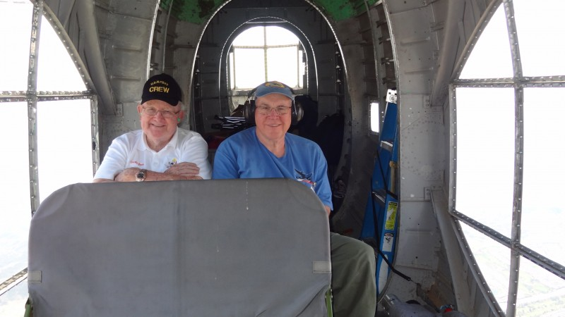 2 Jack Morrissey and Joe Shoen on the way home from Chino 2014 in the Consolidated PB4Y-2 Privateer