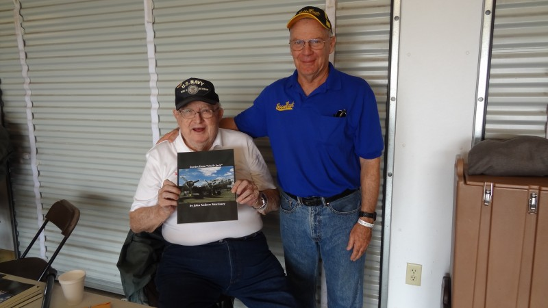1 Jack Morrissey and Dave Goss at Oshkosh EAA AirVenture 2014, in the mess tent